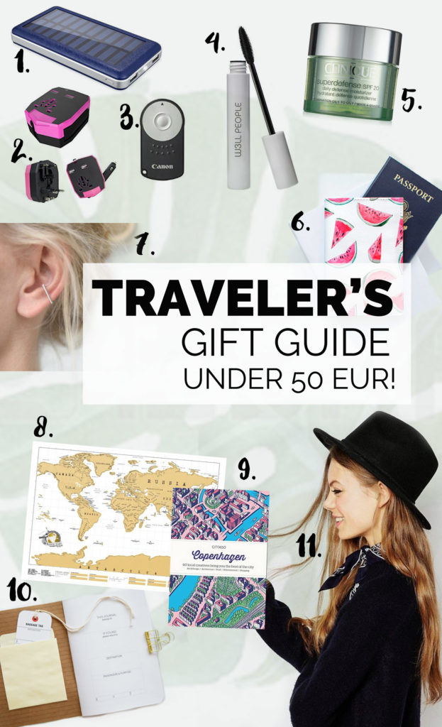 travelers gift guide under 50 euro