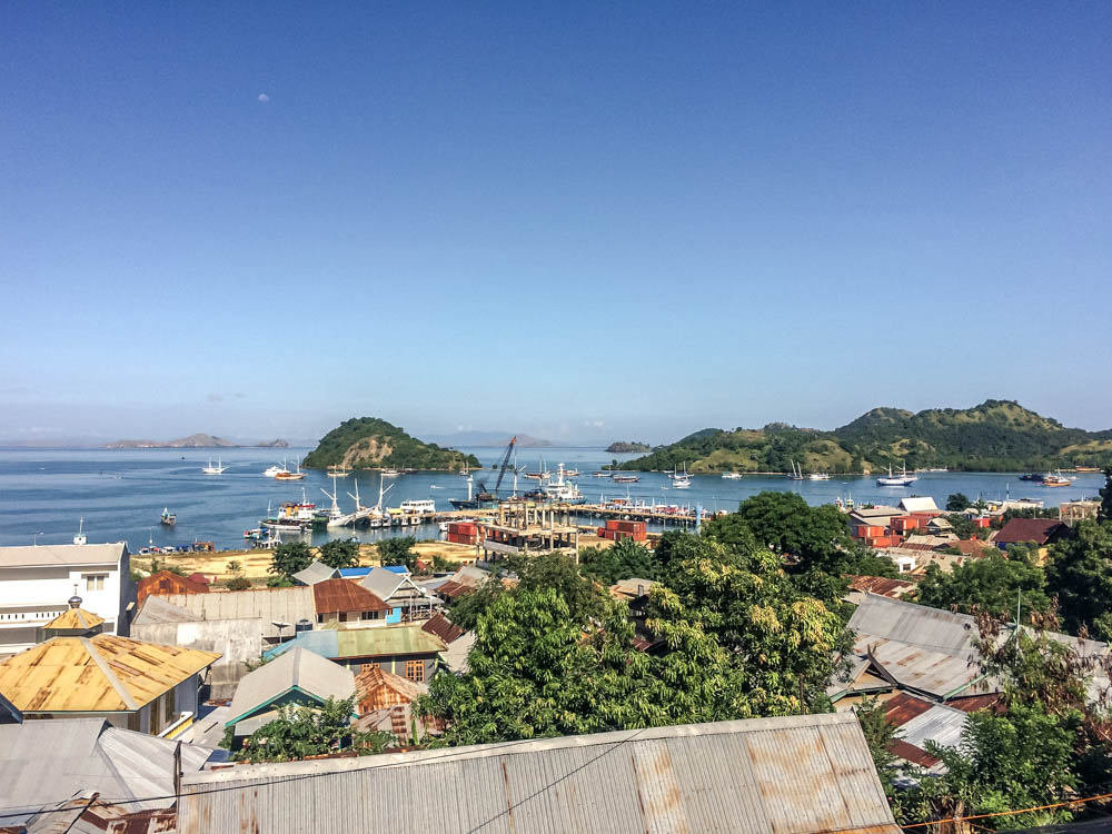 View from the Labuan Bajo Hills
