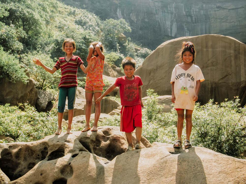 Kids on the Thakhek Loop, Laos