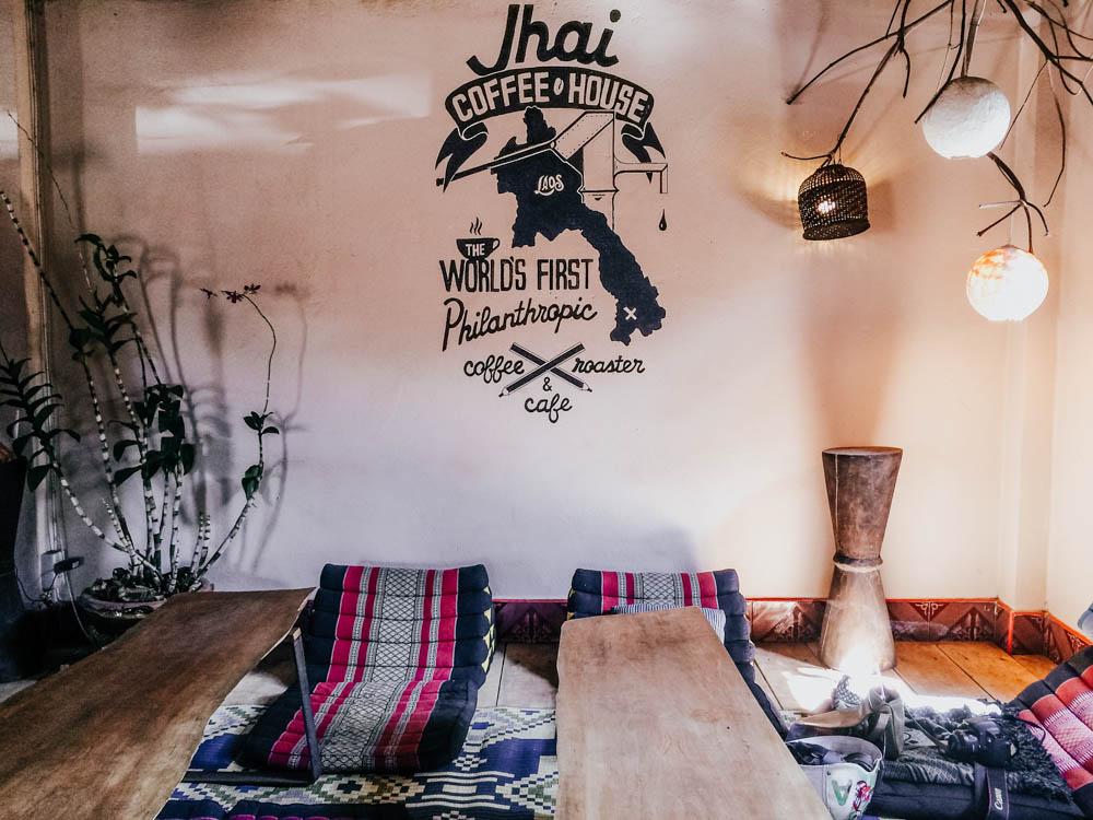 Jhai coffee house on to the Thakhek Loop, Laos
