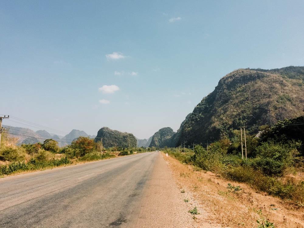 Thakhek loop in Laos with motorcycle