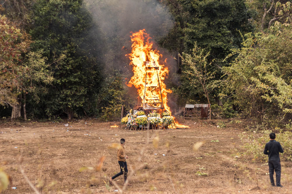 Funeral of an Army official on the Thakhek Loop in Laos