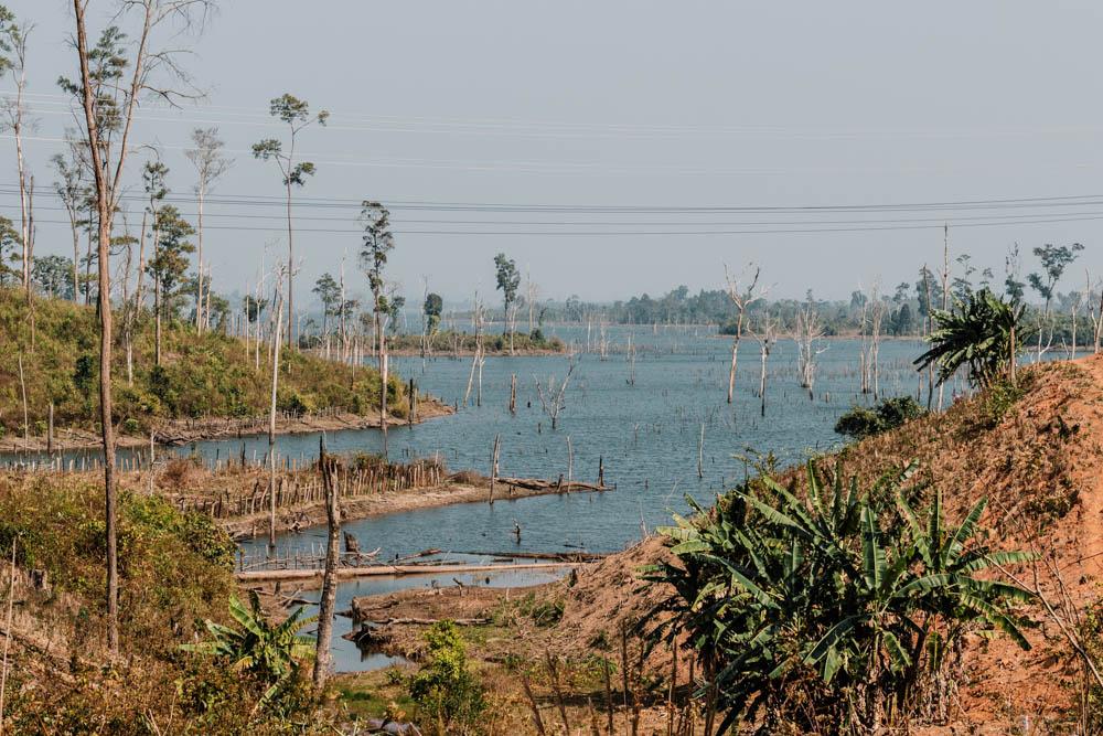 Lake Thalang during Thakhek loop in laos