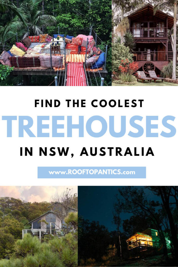 find the coolest treehouse accommodation in NSW, Australia