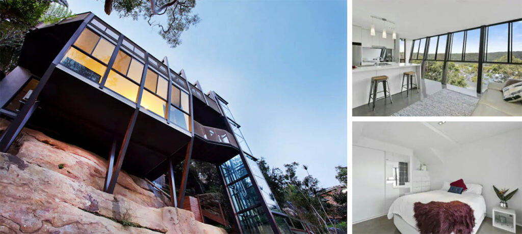 luxurious treehouse in the royal national park next to Sydney, NSW