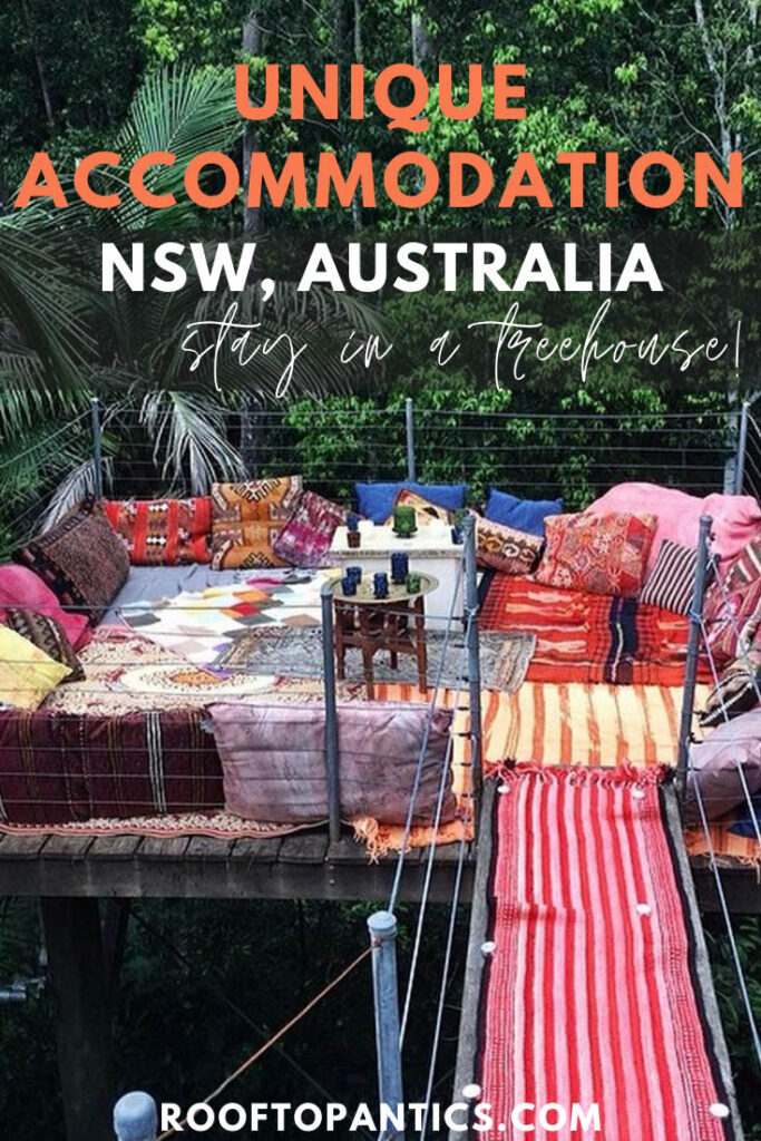 Find unique accommodation in NSW australia, all treehousese!
